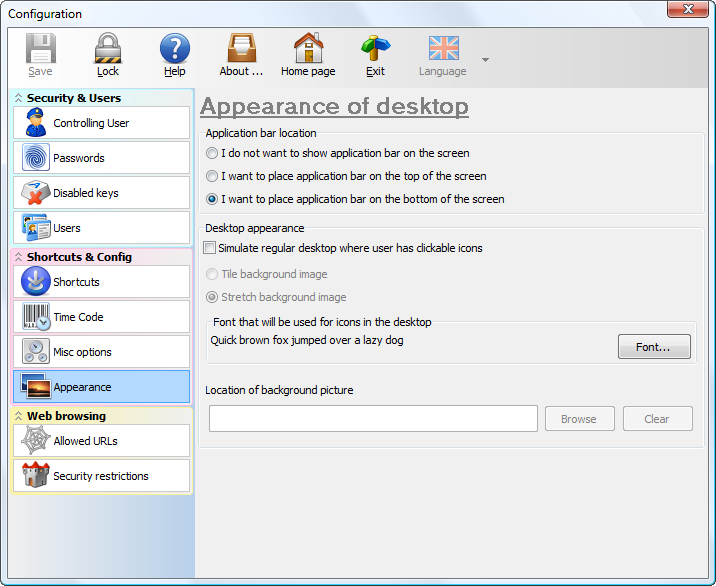 Click to view Public Kiosk Software 7.7 screenshot